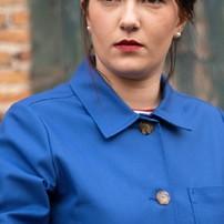 La veste femme se porte aussi en version chemise boutonnée jusqu'au col.  . . . . . . #lavestedejacques #vestedetravail #bleudetravail #workwear #workwearstyle #workwearjacket #veste #vesteworker #workerjacket #bleudechauffe #fullblue #vintage #vintageworkwear #bluejacket #outfit #outfitoftheday #ootd #fashion #fashionstyle #blue #bleu #veste #vestefemme #womenworkwear